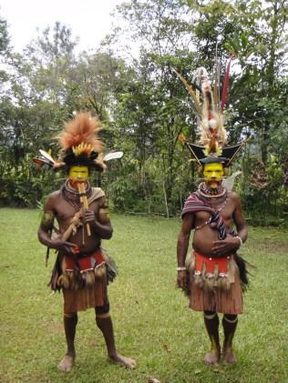 Papua New Guinea. Huki Tribesmen, Tari.