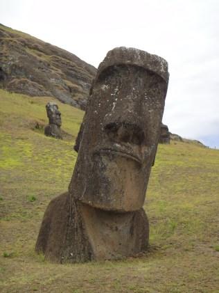 Easter Island. Moai, Rano Raraku.
