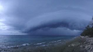 Fiji. Approaching storm, Bounty Island, Mamanucas.