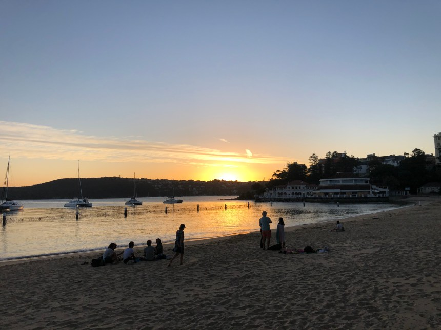 best place to watch sunset in Manly Beach Australia