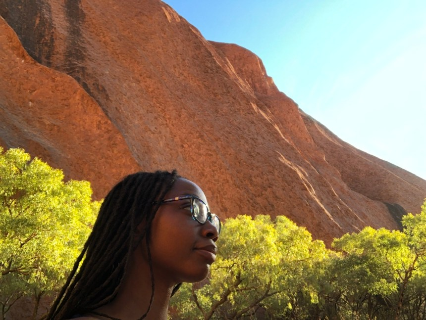 fitness travel blogger Erica Rascon explores Uluru in Spring