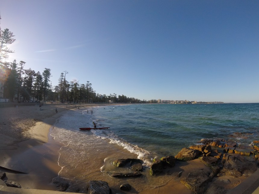 Adventure travel blogger Erica Rascon enjoys Manly Beach on her adventures in Australia