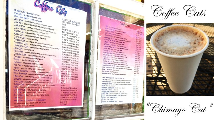 Coffee Cats menu and