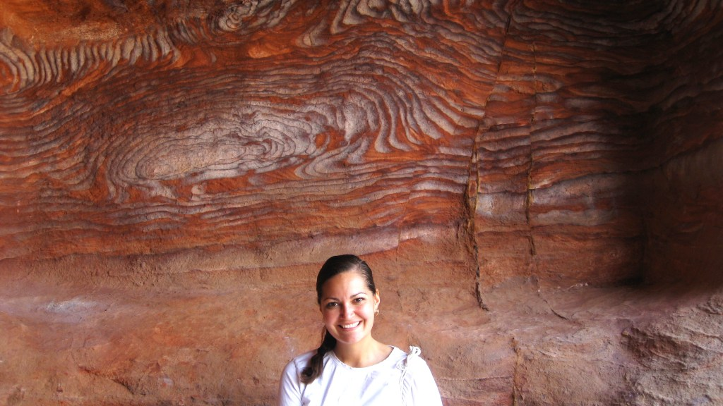 Rock formation, Petra, Ma'an Governate, just south of Amman, Jordan.
