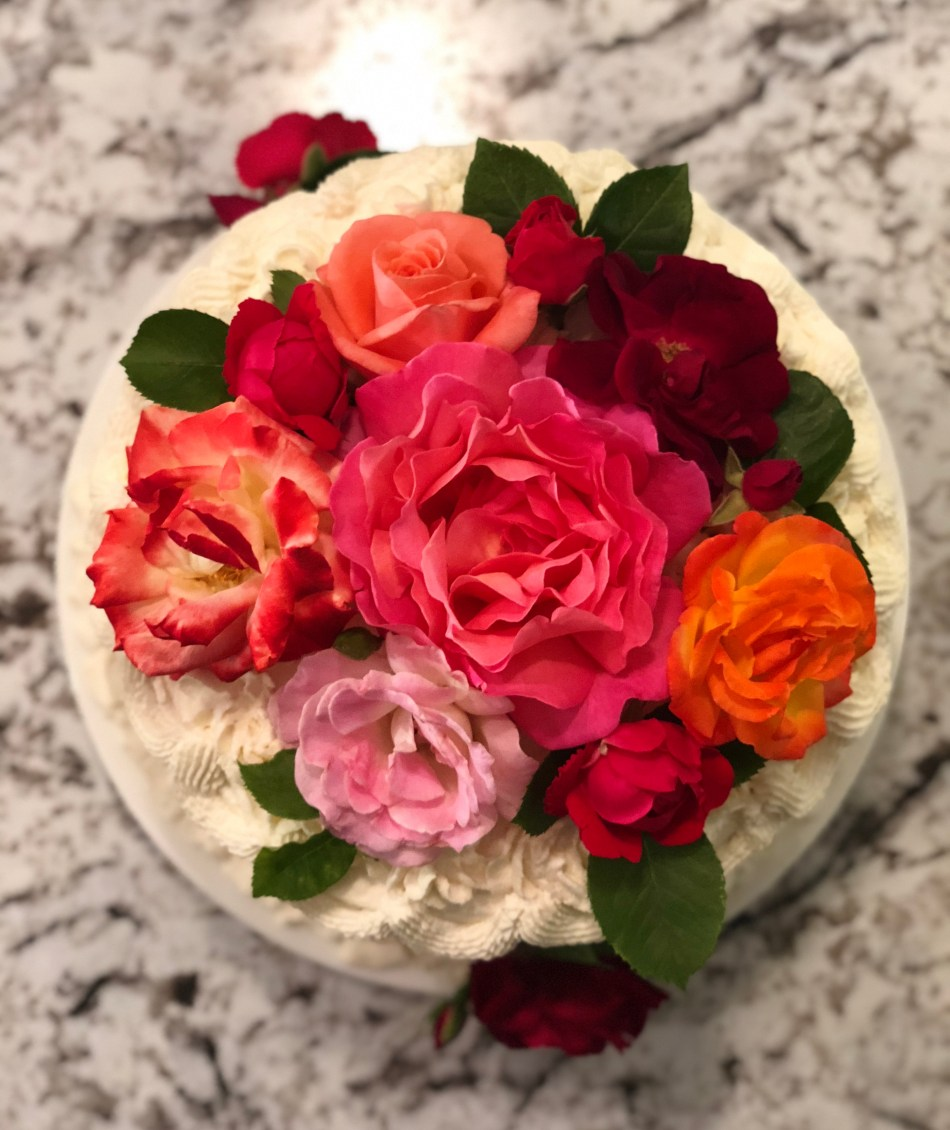 Raspberry Buttercream and Vanilla Layer Cake with Mascarpone Cream © 2018 ericarobbin.com   All rights reserved.