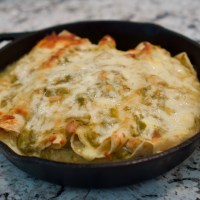 Green Chile Chicken Sour Cream Enchilada
