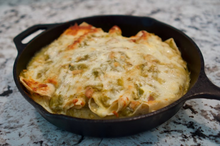 Green Chile Chicken Sour Cream Enchilada © 2018 ericarobbin.com | All rights reserved.