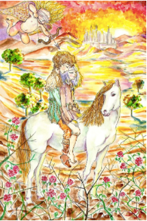 Unbridled Love, watercolor painting, photo courtesy of SillySallyMoon