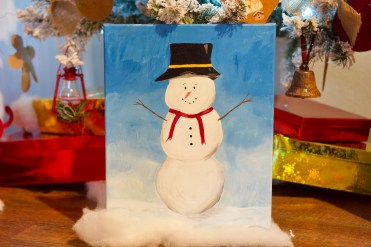 Snowman acrylic painting © 2018 ericarobbin.com   All rights reserved.
