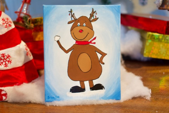 Reindeer acrylic painting © 2018 ericarobbin.com | All rights reserved.