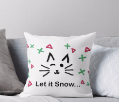 Let it Snow... Throw Pillow © 2018 ericarobbin.com   All rights reserved.