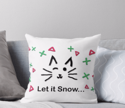 Let it Snow... Throw Pillow © 2018 ericarobbin.com | All rights reserved.