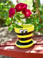 Bee Terra Cotta Flower Pot © 2019 ericarobbin.com | All rights reserved.