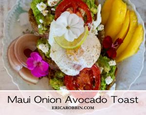 Maui Onion Avocado Toast © 2018 ericarobbin.com   All rights reserved.