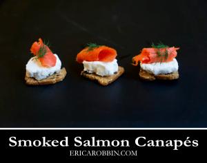 Smoked Salmon Canapés © 2018 ericarobbin.com