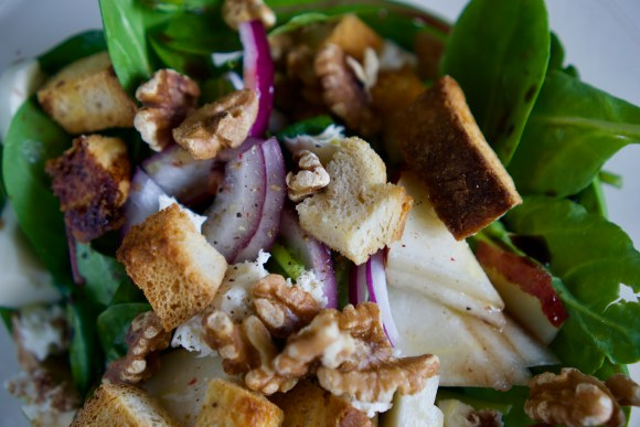 Pear & Cheese Salad with Balsamic Vinaigrette © 2019 ericarobbin.com | All rights reserved.