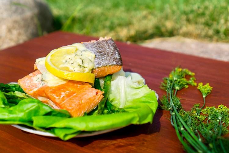 Salmon with Lemon Dill Sauce | Erica Robbin