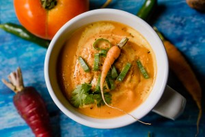 Spicy Carrot Soup | Erica Robbin