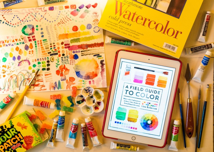 A Field Guide to Color: Watercolor Explorations in Hues, Tints, Shades, and Everything in Between by Lisa Solomon