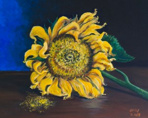 Sunflower (acrylic) Painting | SillySallySomething