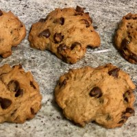 Pumpkin Lavender Chocolate Chip Cookies