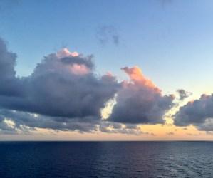 3 Clouds Sunset Over Caribbean Ocean | Erica Robbin