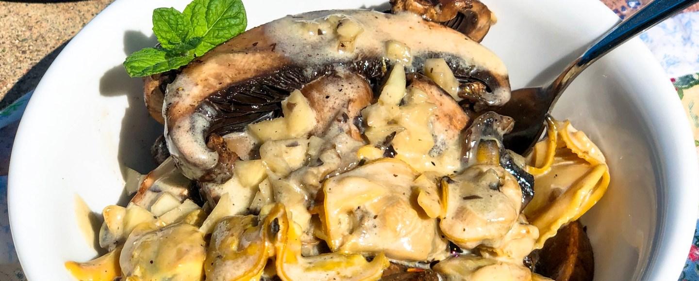 Portobello Mushroom and Creamy Clam Sauce Dinner