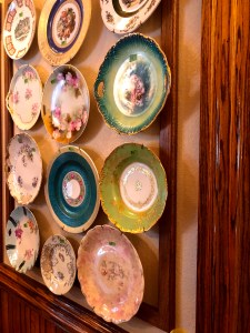 Wall of Delicate China Plates