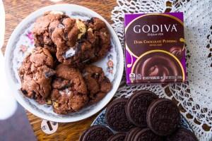 Godiva Dark Chocolate Pudding Oreo Cookies | Erica Robbin