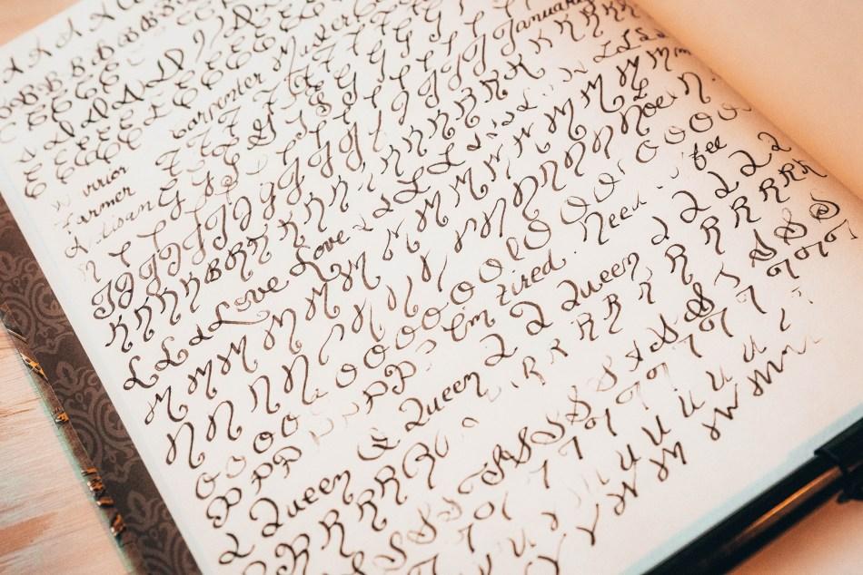 Calligraphy Alphabet Letters | Erica Robbin