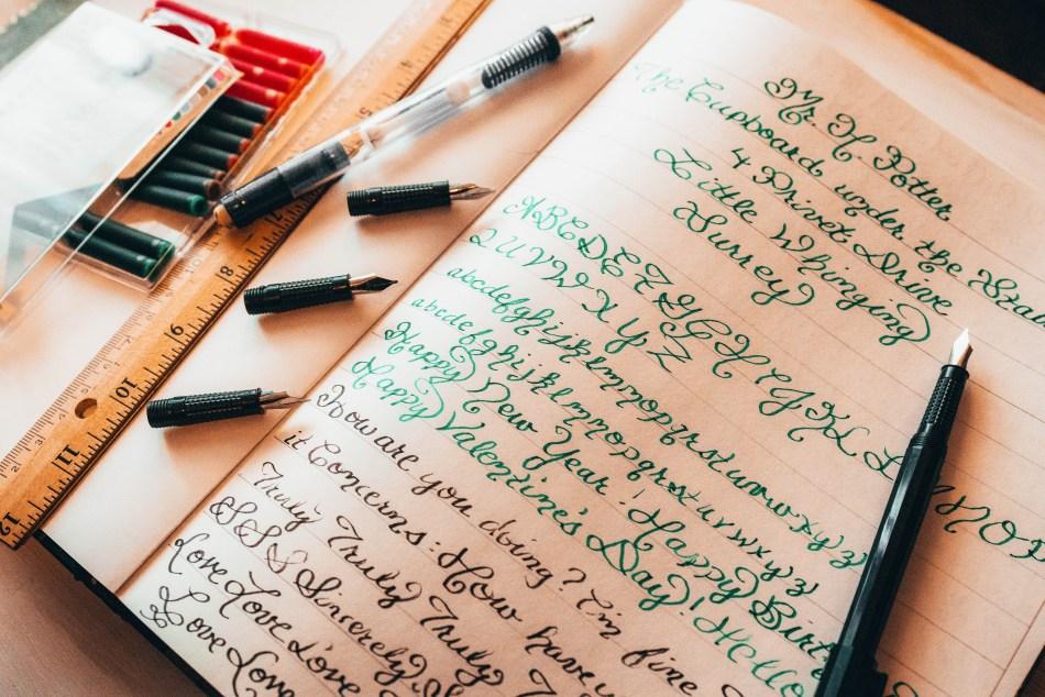 Calligraphy Practice | Erica Robbin