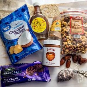 Chocolate Roasted Hazelnut No-Bake Coconut Date Balls Ingredients | Erica Robbin