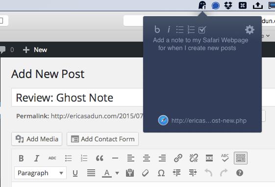 Review Ghost Note Erica Sadun