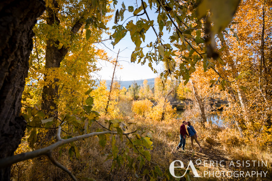 Fall colors a plenty on the Truckee River. Verdi, NV Betsy and Dan.