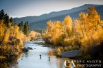 Environmental couples action portrait.  Fly Fishing the Truckee River. Verdi, NV