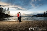 Fall sunsets at Sand Harbor Lake Tahoe.  Kalie and Nick's engagement session