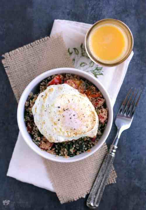Swiss Chard and Quinoa Breakfast Bowl