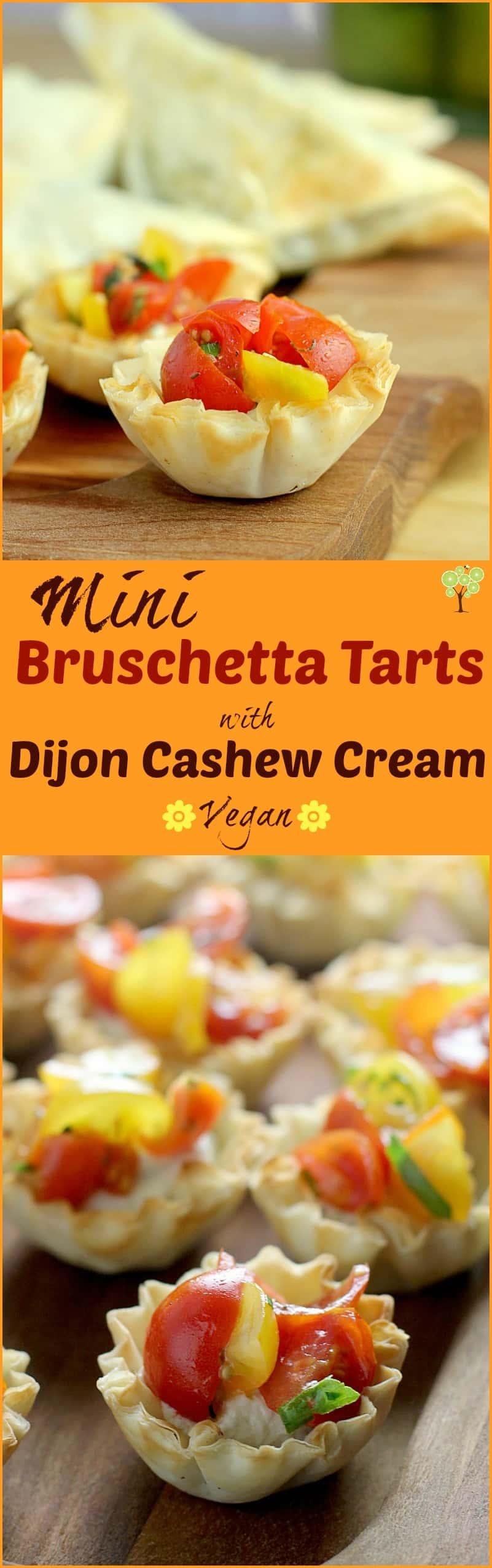 Mini Bruschetta Tarts with Dijon Cashew Cream http://wp.me/p4qC4h-3yQ