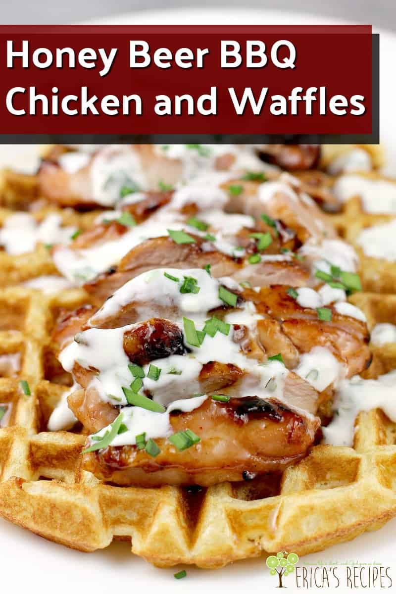 Honey Beer BBQ Chicken and Waffles #BudweiserSauce #BudweiserBBQSauce #KingOfSauces #recipe #grilling #chicken