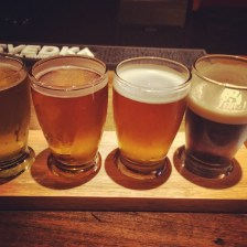 Breckinridge brewing beer flight, nitro vanilla porter, yes please! @breckinridgebrewing