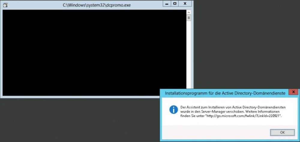 Windows Server 2012 - DCPromo?!