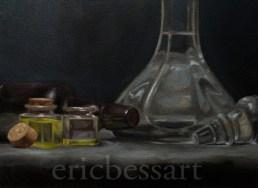 Glass Still Life, Oil, 12x16, 2013