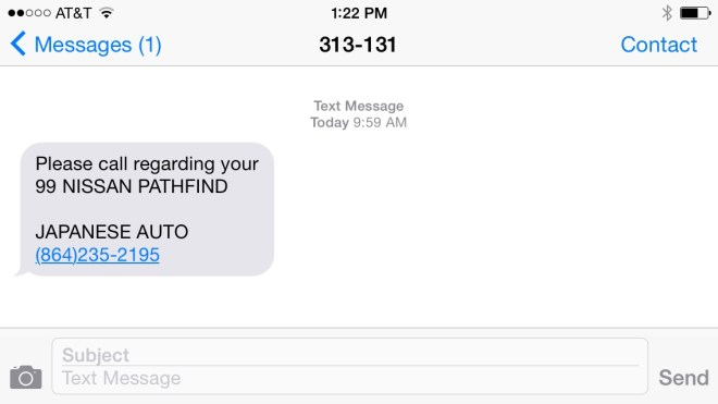 text-message-automotive-shop