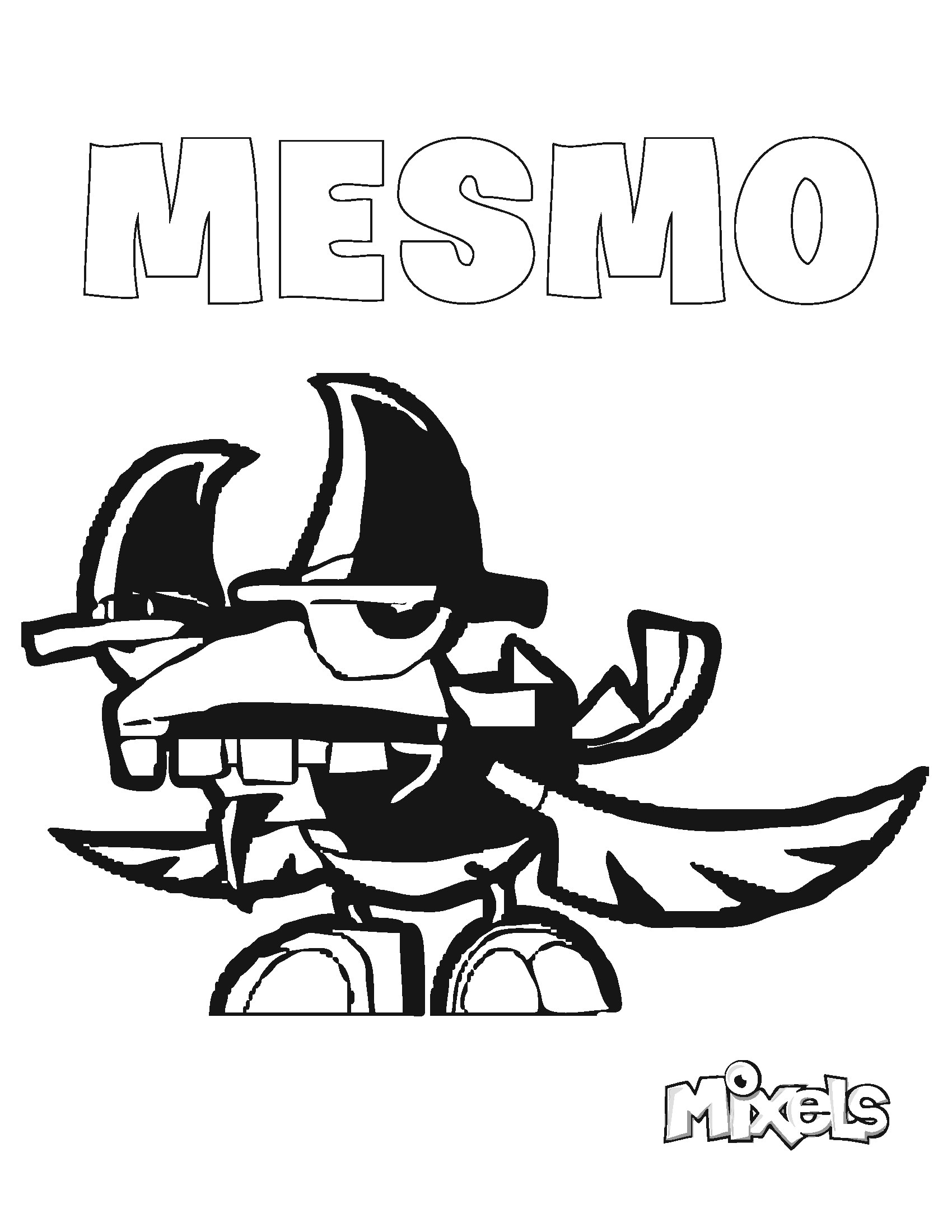 mixels coloring pages to print - photo#27
