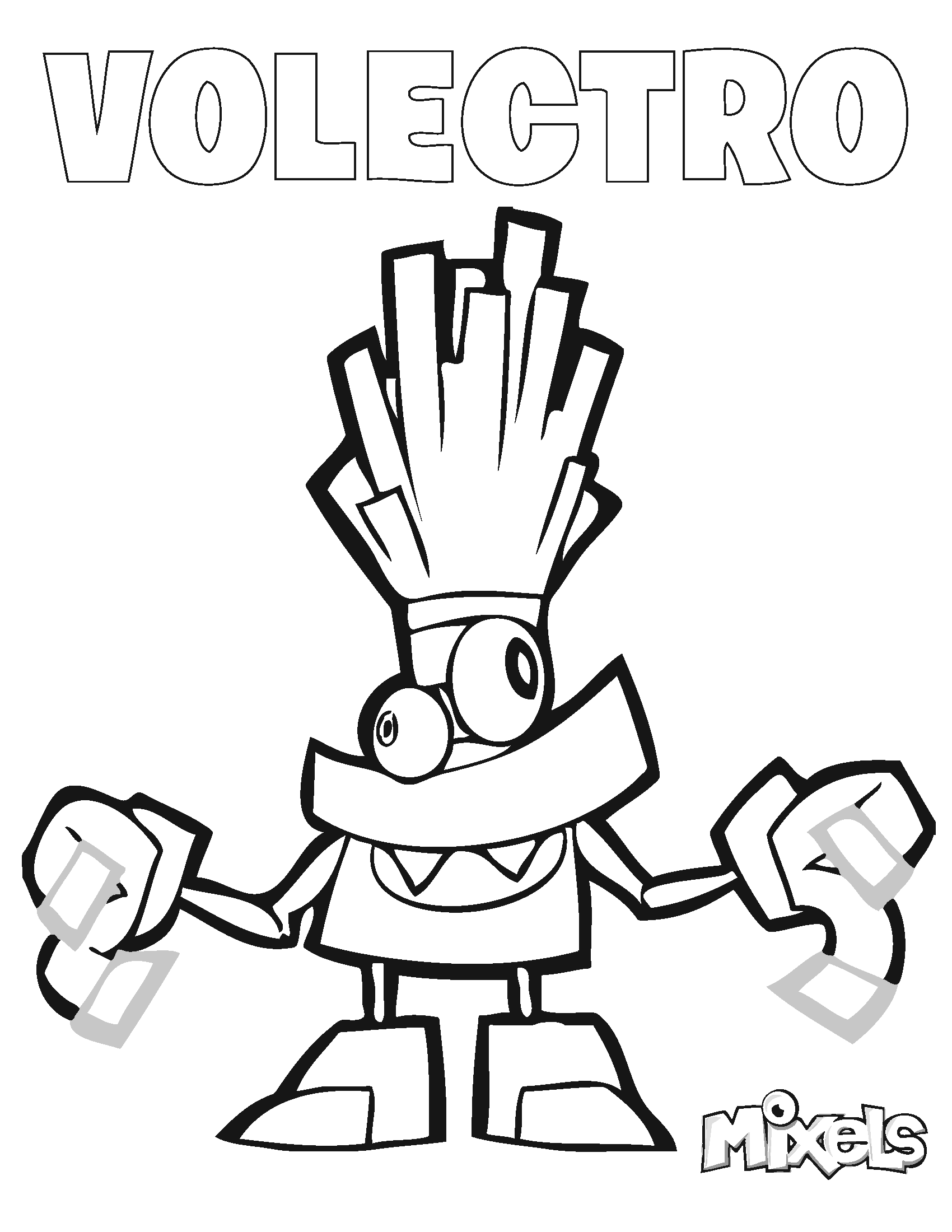 lego mixels coloring pages - mixels coloring page volectro my little corner