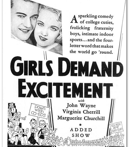 Girls Demand Excitement!
