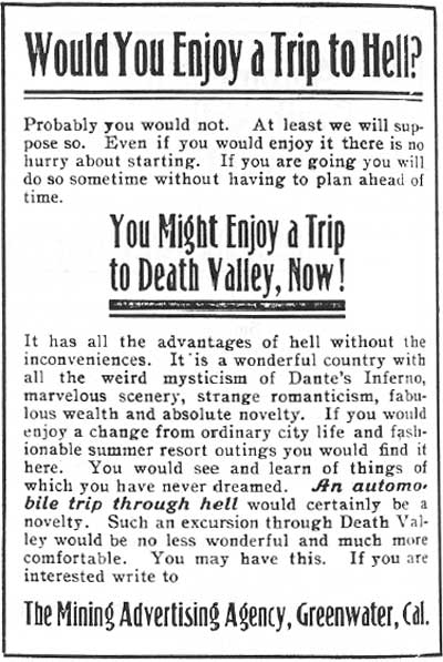 Ad from the Chuckwalla, April 1907