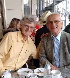 Oskar and Erich at Tomaselli Cafe in Salzburg, June 2015