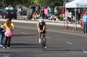 Erich Wegscheider on the bike at the 2013 Ironman Arizona.