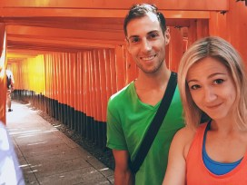 Erich and Christen at Fushimi Inari-taisha